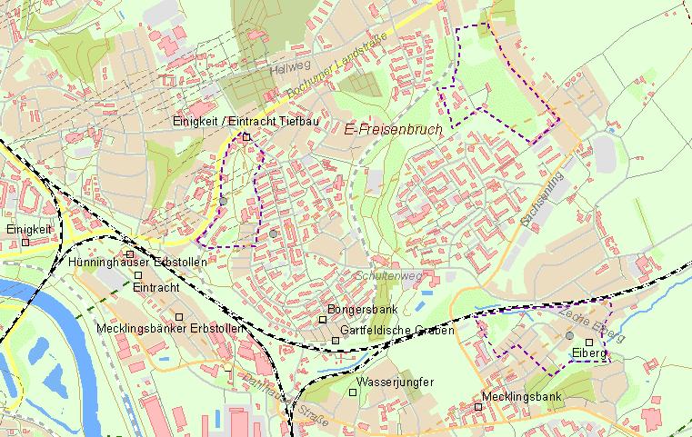 Karte Essen.Der Frühe Bergbau An Der Ruhr Aktuelle übersichtskarte Essen