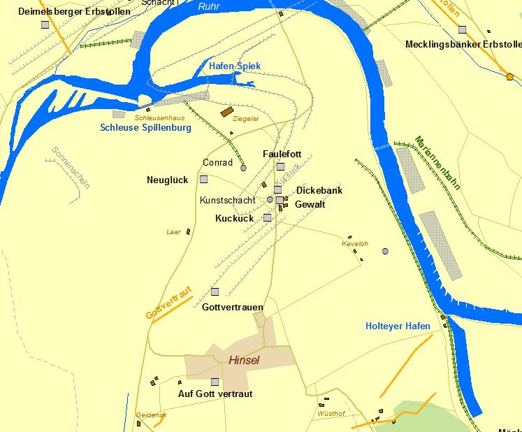 Karte Essen.Der Frühe Bergbau An Der Ruhr Historische Karte Essen überruhr