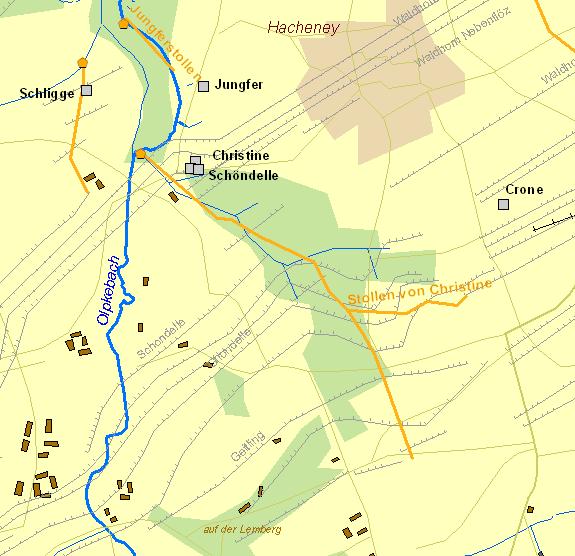Karte Ruhrgebiet.Der Frühe Bergbau An Der Ruhr Historische Karte Stollen Von