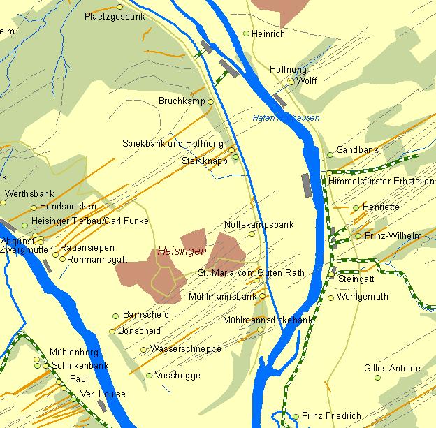 Karte Essen.Der Frühe Bergbau An Der Ruhr Historische Karte Des Reviers Von